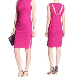 Cut Out Sheath Dress With Side Zipper